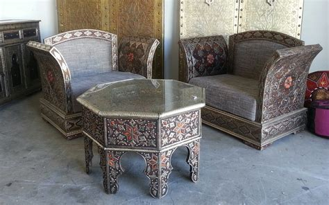 moroccan camel bone living room set
