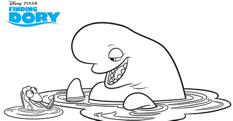 Bailey J Coloring Pages by Ella Es Bailey La Beluga De Buscando A Dory