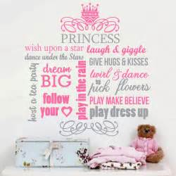 princess wall art stickers 2 color large princess crown girl vinyl wall decals