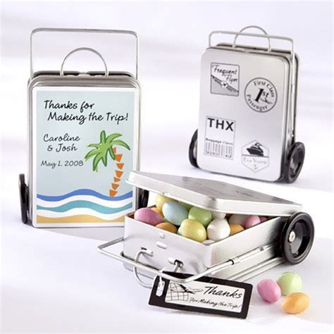 Wedding Favors Tins by Mini Suitcase Favor Tins