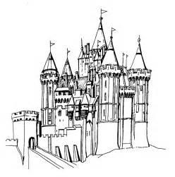 big castle colouring pages