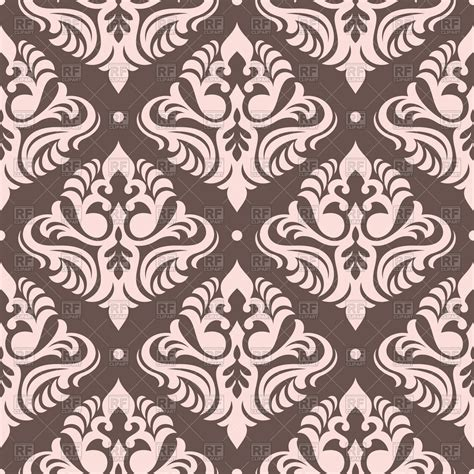 colorful victorian wallpaper seamless pink victorian wallpaper vector image 50738