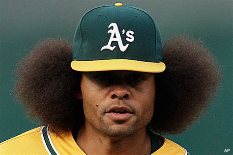 fashion ump coco crisp brings back the afro in oakland
