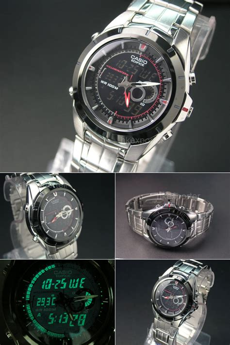 Casio Edifice Efa 100 By I2y Store casio edifice digital analog thermometer efa 119bk