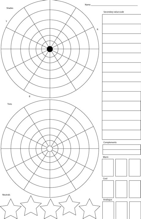 Color Wheel Worksheet by Colour Wheel Worksheet Interactive Notebooks
