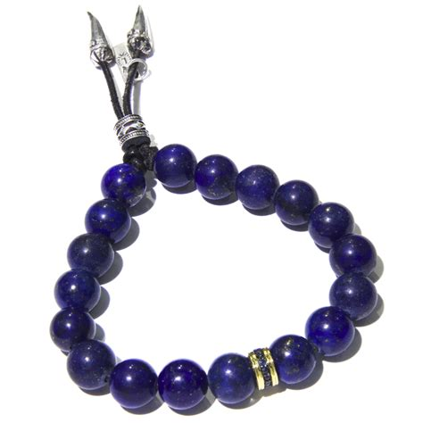 mens gold bead bracelet s blue lapis bracelet jewelry