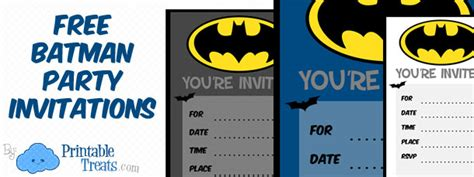 printable birthday invitations batman batman birthday invitations to print printable treats com