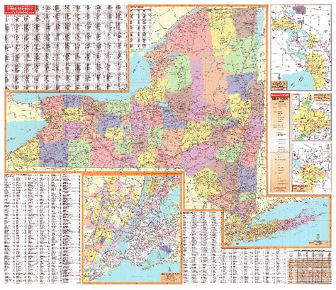 map new york state towns new york wall maps national geographic maps map quest