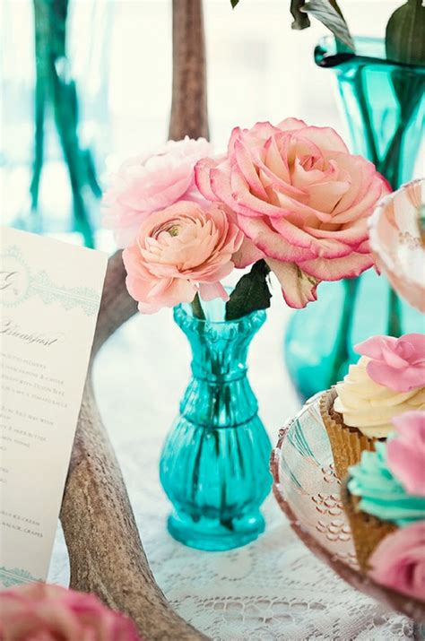 Turquoise And Pink Wedding Decorations pink and turquoise wedding theme weddings by lilly