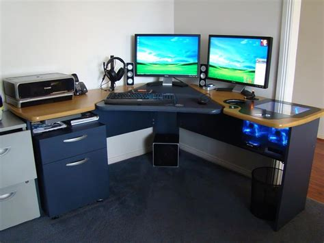 custom computer built into desk 187 woodworktips