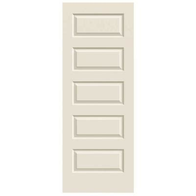 jeld wen 32 in x 80 in molded smooth 5 panel primed white hollow core composite interior door