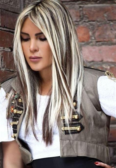 platinum highlights for graying brunette hair dark brown hair with blonde highlights hair pinterest