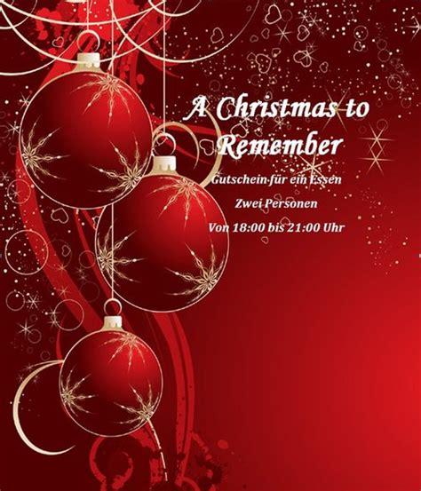 Word Vorlagen Weihnachten 20 kostenlose gutschein vorlagen f 252 r weihnachten zum