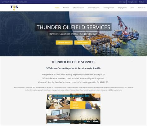 wordpress global layout thunder oilfield services phuket web media