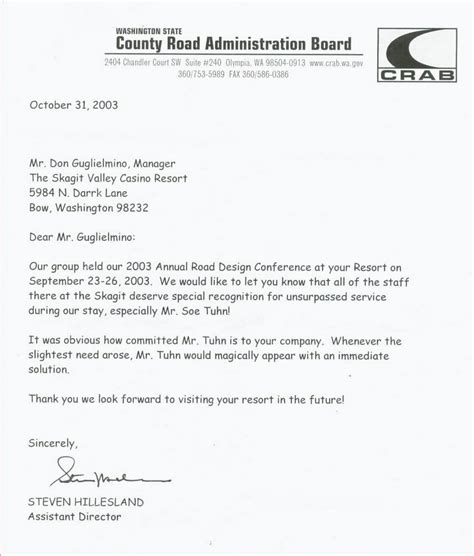 Recommendation Letter Of Washington Letter Of Recommendation