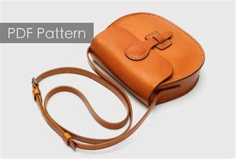 leather goods pattern leather saddle bag pattern diy gift leather bag pattern