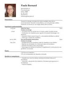Resume Builder by Cv Femme De M 233 Nage Exemple Cv Femme De M 233 Nage Livecareer
