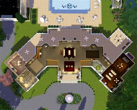 Sims 3 House Plans Mansion Sims Mansion Floor Plans Architecture Plans 18199