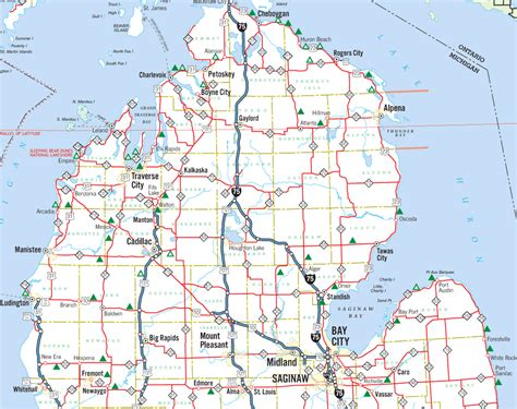 Of Michigan Search Detailed Map Of Lower Michigan Search Engine At Search