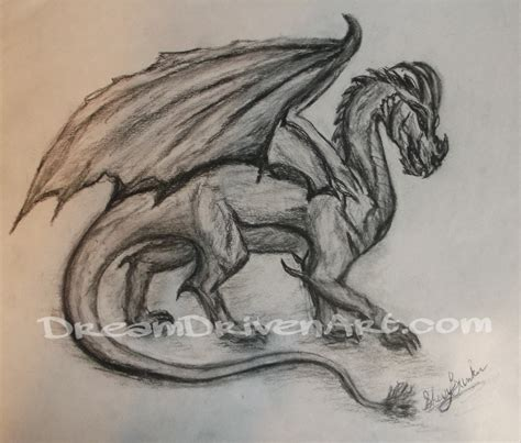 Drawing Dragons by Charcoal Drawing Driven