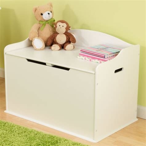 white wooden toy box bench kidkraft austin wood toy box chest bench white ebay