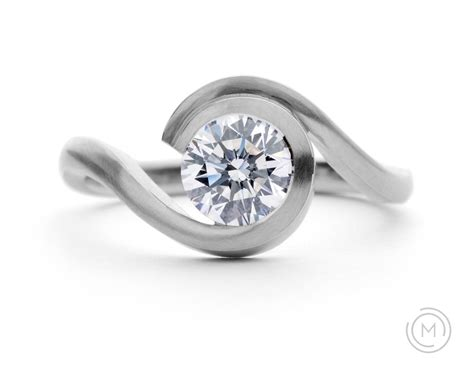 Contemporary Engagement Rings by Contemporary Engagement Rings Wave Rings