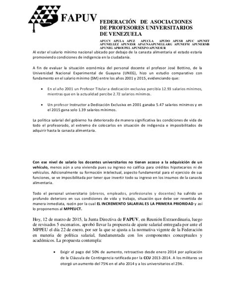 aumento de sueldo de profesores 2016 aumento a profesores universitarios en venezuela 2016