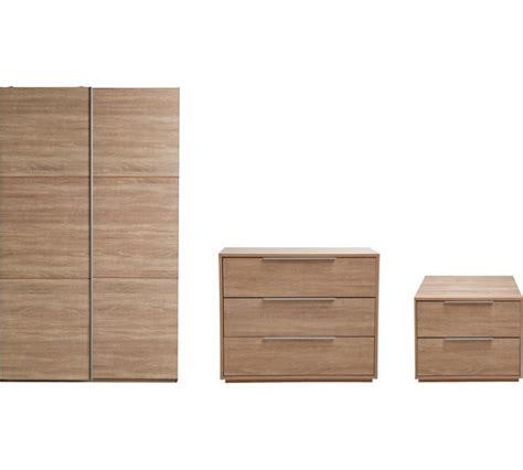 hygena bedroom furniture buy hygena bergen 3 small wardrobe package oak