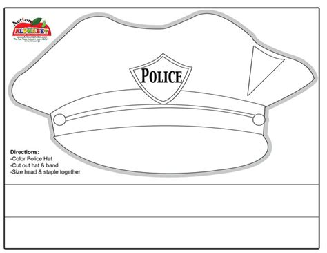 printable police hat ei teaching emergency services
