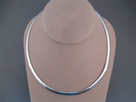 Omega Silver Chain sterling silver omega necklace two grey