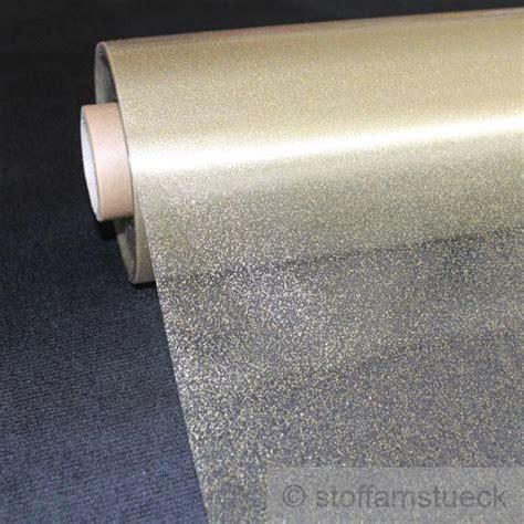 Folie Gold Meterware by Meterware Pvc Klarsichtfolie Glitter Gold Folie