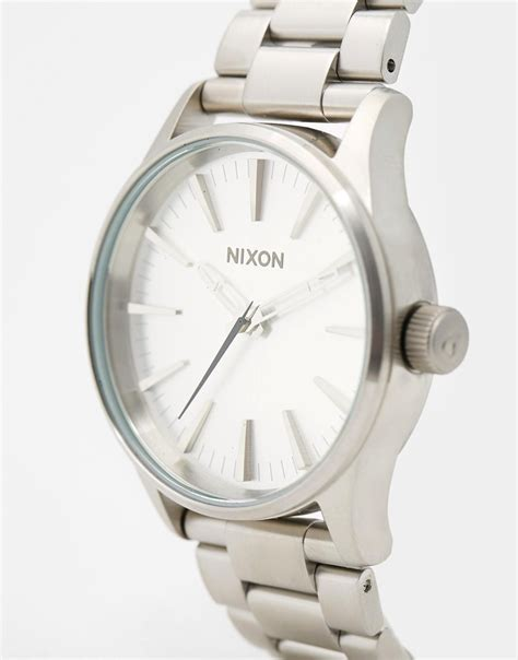 Nixon Mens A4501041 Sentry 38 Ss nixon sentry 38 stainless steel a450 in metallic for lyst