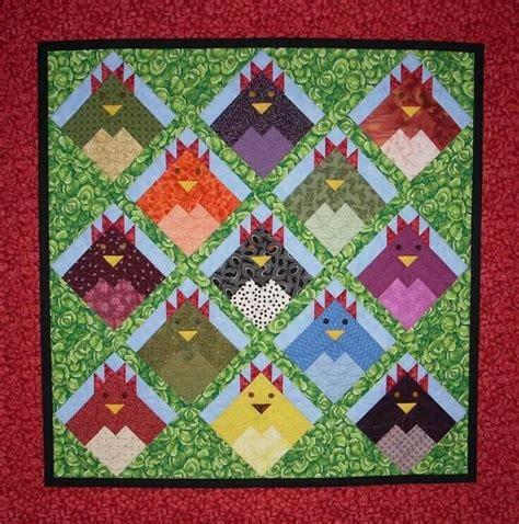 Chicken Quilt Patterns by Chicken Quilt Fabric Crafts