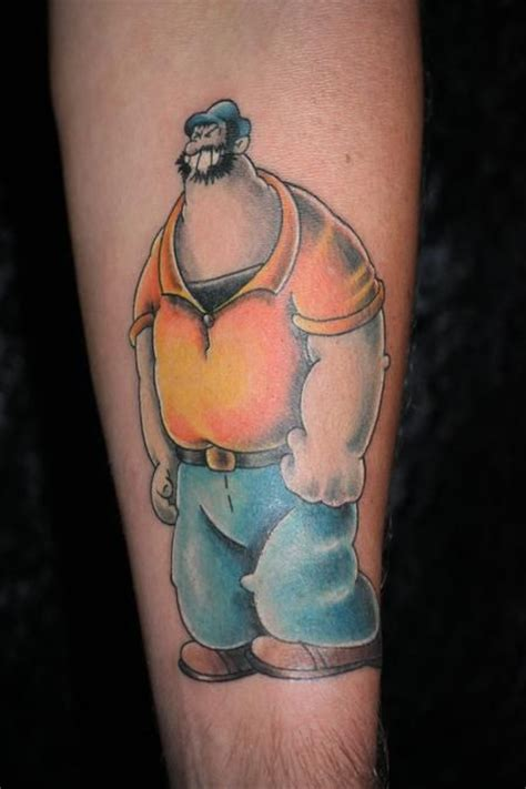 popeye tattoo popeye tattoos bluto tattoos i like tattoos