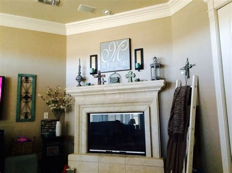 fireplace sherwin williams tony taupe wall color hobby