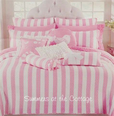 Pink And White Striped Bedding Victorian Bedroom With Pink And White Bedding