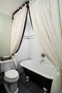 Bathroom Drapery Ideas by Fantastic Clawfoot Tub Shower Curtain Ideas Decorating