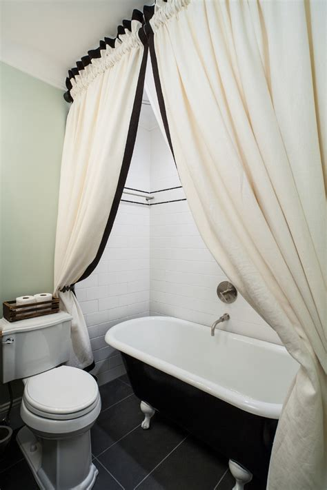 Bathroom Curtain Ideas For Shower Staggering Clawfoot Tub Shower Curtain Ideas Decorating Ideas Gallery In Bathroom Craftsman
