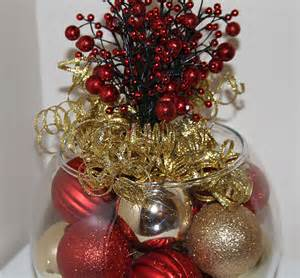 christmas centerpiece red and gold holiday decor
