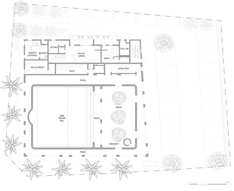 floor plan of a mosque gallery of al warqa a mosque ibda design 16
