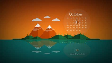 october  calendar desktop wallpaper desktop calendar calendar wallpaper creative calendar
