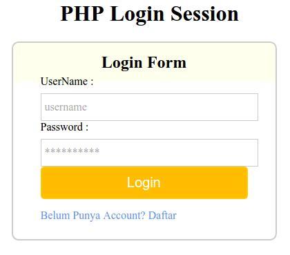 membuat register login logout dengan php teknik login register dan logout pada login seasion di