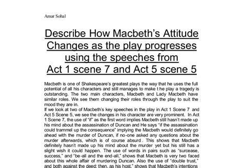 themes of macbeth pdf macbeth attitude change using the speeches from act 1
