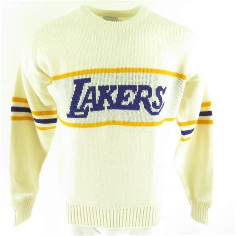 Sweater Basketball Evolution Banaboo Shopping vintage 80s los angeles lakers sweater mens l deadstock basketball cliff engle the clothing vault