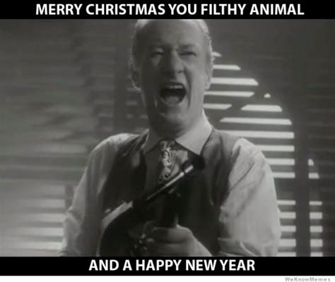Merry Christmas You Filthy Animal Meme - toast to us all merry christmas everyone magpies