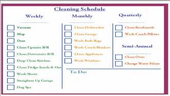 House cleaning daily weekly house cleaning schedule