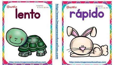 imagenes educativas opuestos opuetos tarjetas ant 211 nimos logicomatematico pinterest