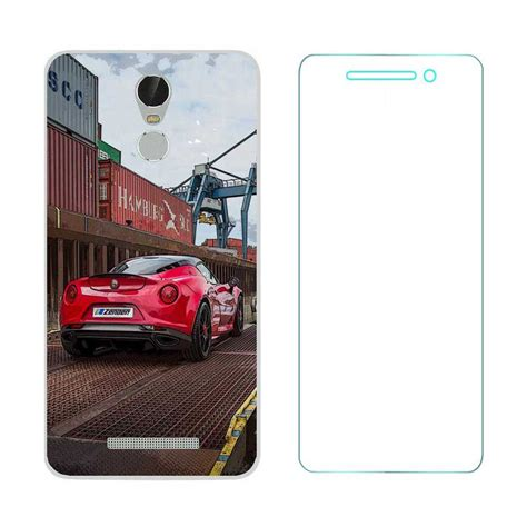 Tempered Glass Lenovo Vibe K5 1 lenovo vibe k5 note printed back cover with ultra clear