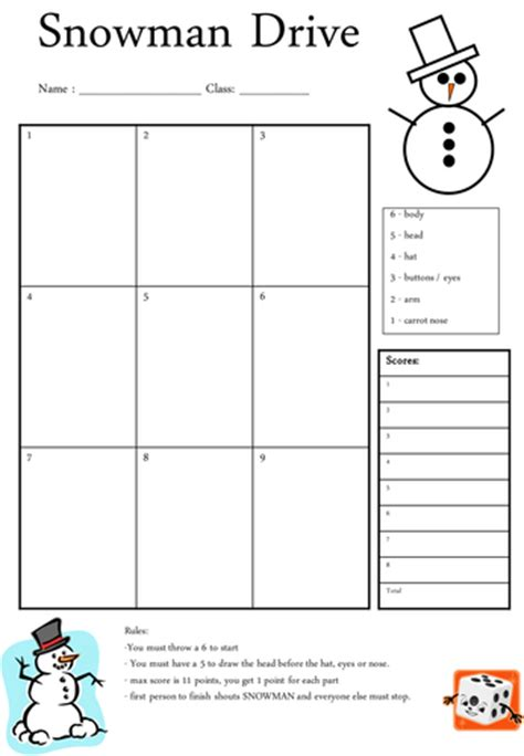 drive template card snowman drive by missebg teaching resources tes