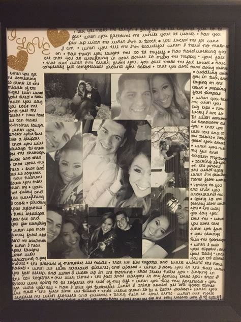 picture frame i made for a gift for my boyfriend vday